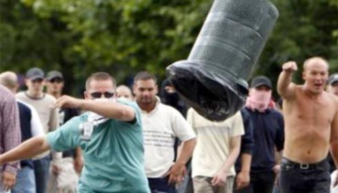 Manifestaţie împotriva rromilor, în Cehia