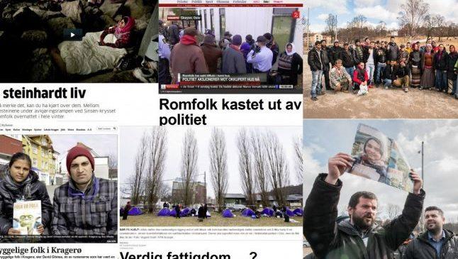 Cerşetorii români fac proteste antidiscriminare în Norvegia