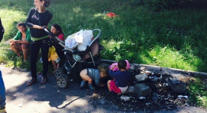 Politia Locala a evacuat o familie cu 13 copii si cu mama gravida ce ocupau abuziv domeniul public