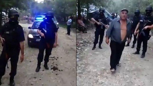 """Jandarmi încercuiţi de hoţii de lemn în Argeş. Lupte cu pietre, topoare şi focuri de armă: """"Unul a vrut să-şi scape fiul şi a dat cu maşina peste noi"""""""
