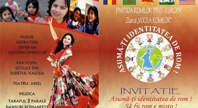 """Avem plăcerea de a vă invita la Seminaru """"Asumă-ţi identitatea de rom ! Să fii rom e mişto !"""""""