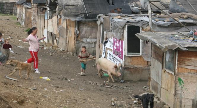 Colonie noua de romi la Jibou