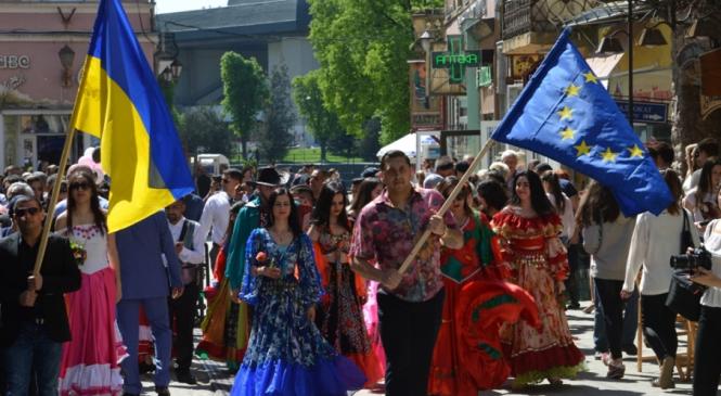 Romii din Trascarpatia au organizat Festivalul Culturii Naţionale