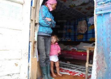 Iarna pe uliţă, varianta cartierului romilor din Josenii Bârgăului