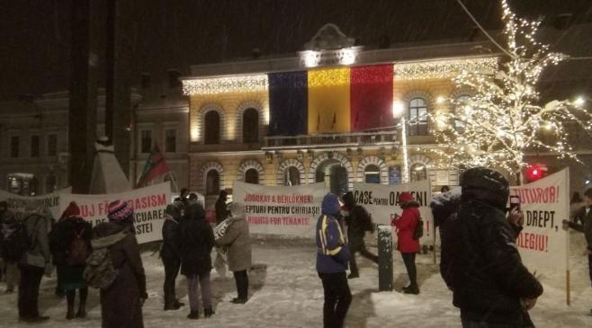 8 ani de la evacuările de pe Coastei. Zeci de persoane au protestat în centrul Clujului