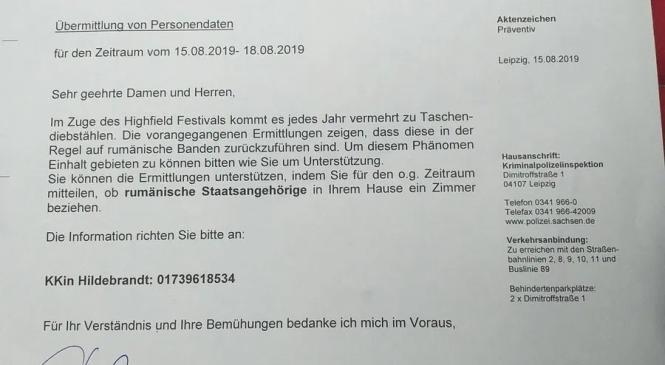 Poliţia din Leipzig a cerut hotelurilor să anunţe când cazează români