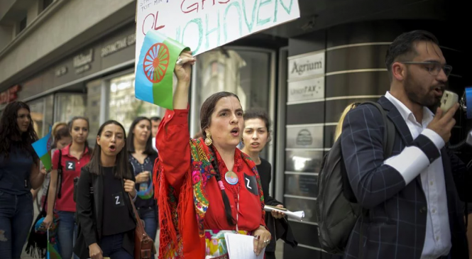 Au participat aproximativ 1.000 de persoane și, după o simplă evaluare, am ajuns la concluzia că a fost cel mai numeros protest organizat de romi după 1989.