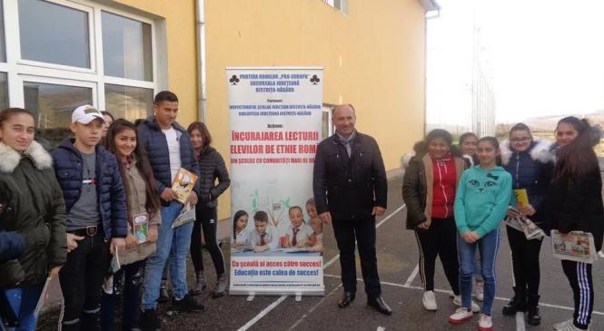 """""""Încurajarea lecturii elevilor romi – Povești de acasă"""" – O campanie a Partidei Romilor """"Pro-Europa"""" Sucursala Bistriţa-Năsăud"""
