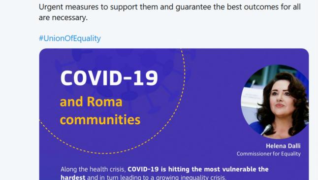 COVID-19: Comisia Europeană cere Statelor Membre să sprijine comunităţile de romi marginalizate