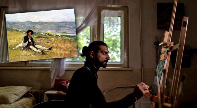 Un pictor fără școală, abandonat la naștere într-un centru de boli psihice din Argeș, are un talent unic în reproducerea tablourilor celebre