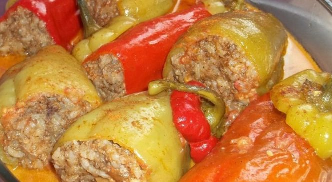 Ardei umpluți fără carne – Rețetă ușoară, rapidă și gustoasă