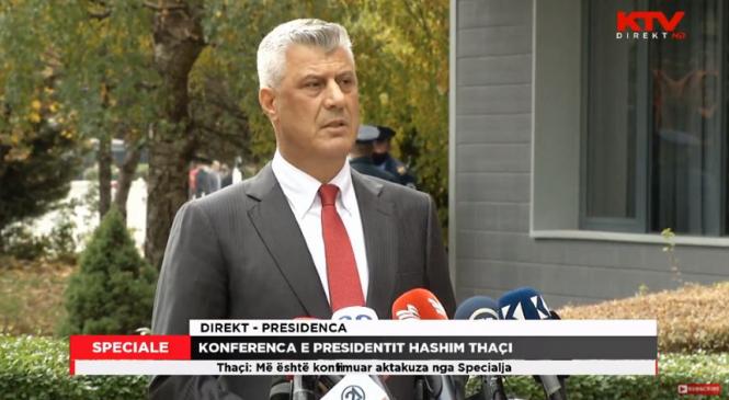 Preşedintele kosovar Hashim Thaci demisionează în urma inculpării sale la Haga