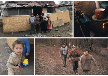 Un destin trist: o mamă cu 13 copii trăiește în condiții INUMANE pe malul Someșului, în Ciocmani