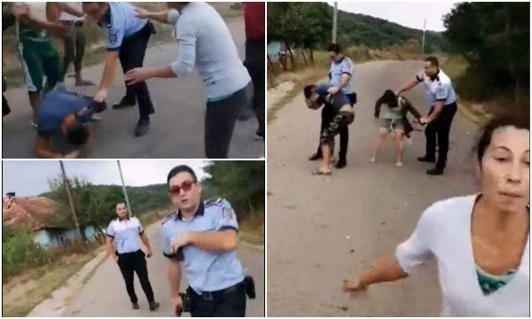 Scene incredibile în Sălaj. Bătaie generală între doi poliţişti şi un grup de rromi