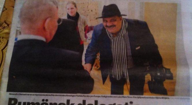 ÎN DELEGATIE LA STOCKHOLM ÎN CALITATE DE JURNALIST CU PRIM MININISTRU SUEDEZ